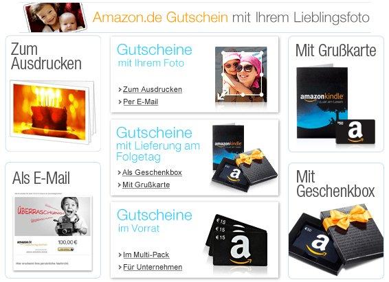 Amazon Geschenkgutscheine