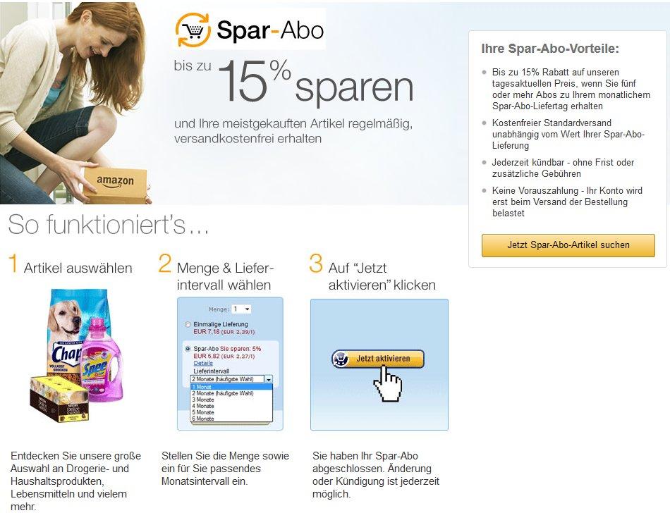 Amazon Spar-Abo Vorteile