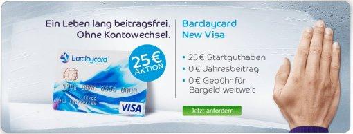 Barclaycard VISA mit 25 Euro Startguthaben