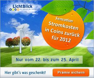 LichtBlick Ökostrom Stromkosten 2012 zurückerstattet