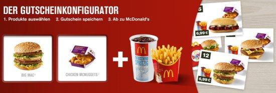 McDonalds Gutscheinkonfigurator
