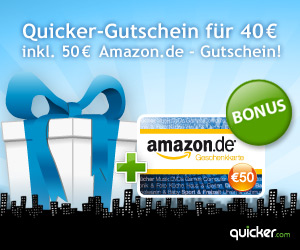 Amazon Gutschein Top Deal bei Quicker