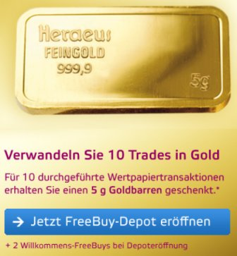 OnVista gratis Gold Aktion